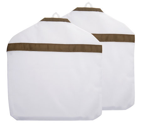 Set of 2 Water-Resistant Portable Laundry/Garment Bags