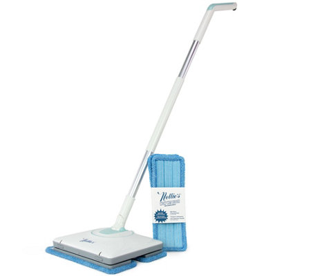 Nellie's Cordless Wow Mop with 4 Reusable Cleaning Pads