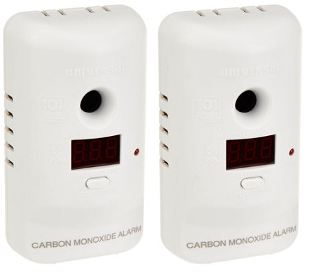 USI Set of 2 Carbon Monoxide Alarms with 10 Year Battery