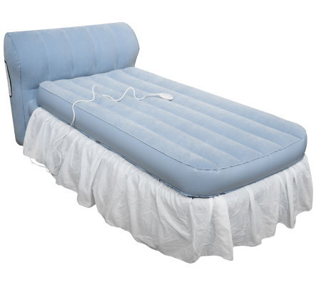 Aerobed Twin Raised Bed With Headboard And Dust Ruffle Page 1