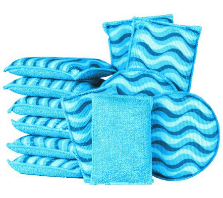 12-Piece Microfiber Sponge Set by Campanelli Products