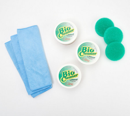 Bio Cleaner Set of 3 Supersize Cleaning Clay w/ Accessories