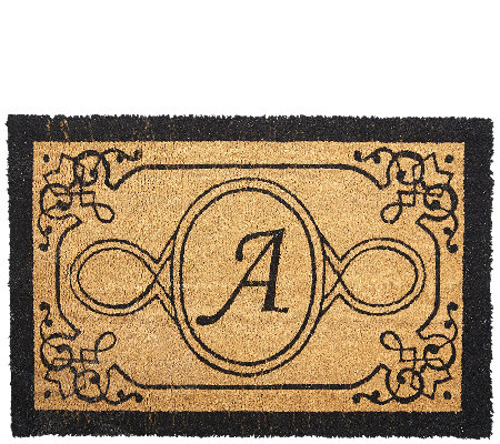 Handcrafted Monogrammed Initial 2'x3' Rectangle Coco Doormat