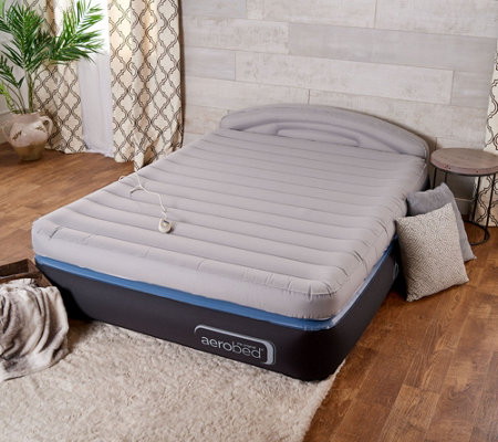 Aerobed Opticomfort 18 Queen Air Mattress With Headboard
