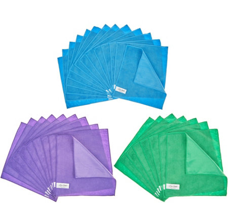 """As Is"" Don Aslett's Supersize 50pc Microfiber Cleaning Cloths"