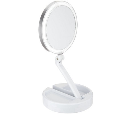 Floxite 10X/1X Lighted Magnification Mirror w/ Built in Storage