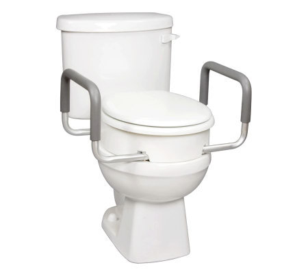 Carex Toilet Seat Elevator with Handles for Standard Toilets