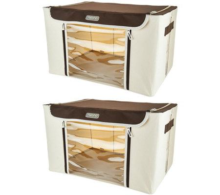 Incroyable Kano Set Of 2 Large Storage Boxes W/Steel Frame U0026 Window Panel
