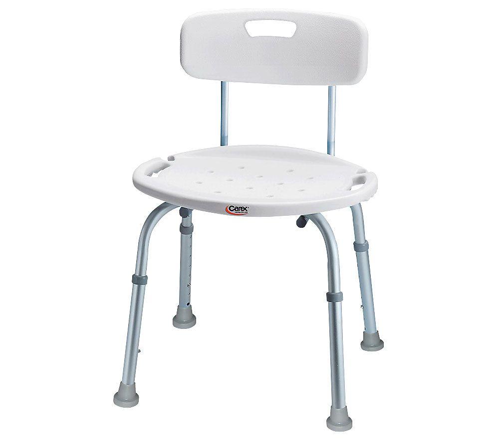 sc 1 st  QVC.com & Carex Adjustable Bath u0026 Shower Seat with Back u2014 QVC.com