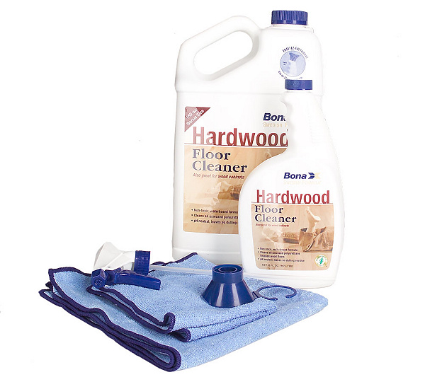 BonaKemi Wood Floor and Cabinet 4pc Cleaning Kit — QVC.com