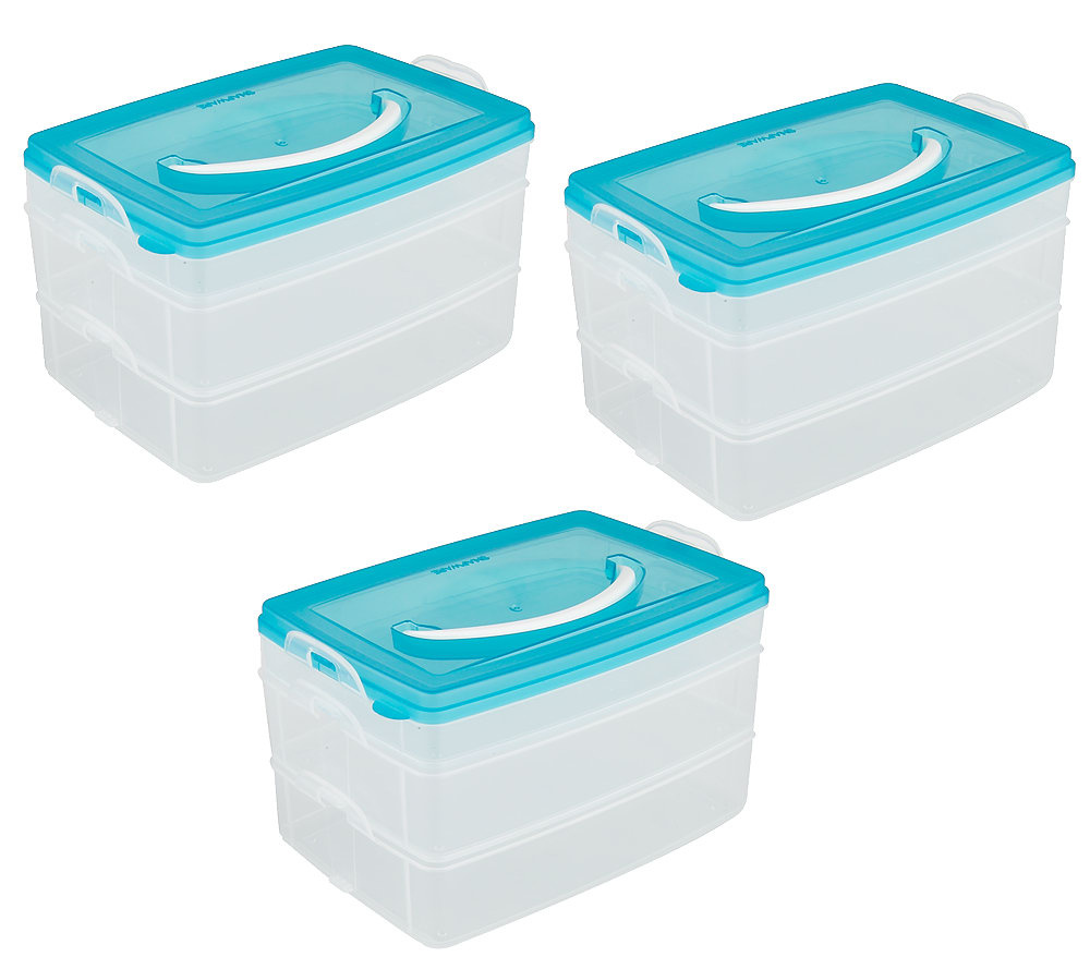 Snapware Set of 3 Snap N Stack Storage Containers Page 1 QVCcom
