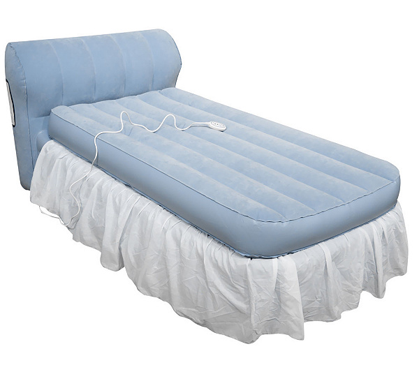 Aerobed Twin Raised Bed With Headboard And Dust Ruffle