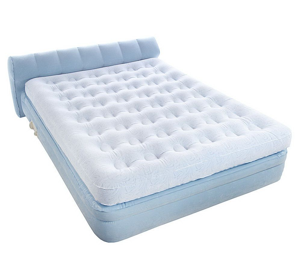 AeroBed Queen Elevated Headboard Bed With Auto Shut Off Pump   Page 1 U2014  QVC.com