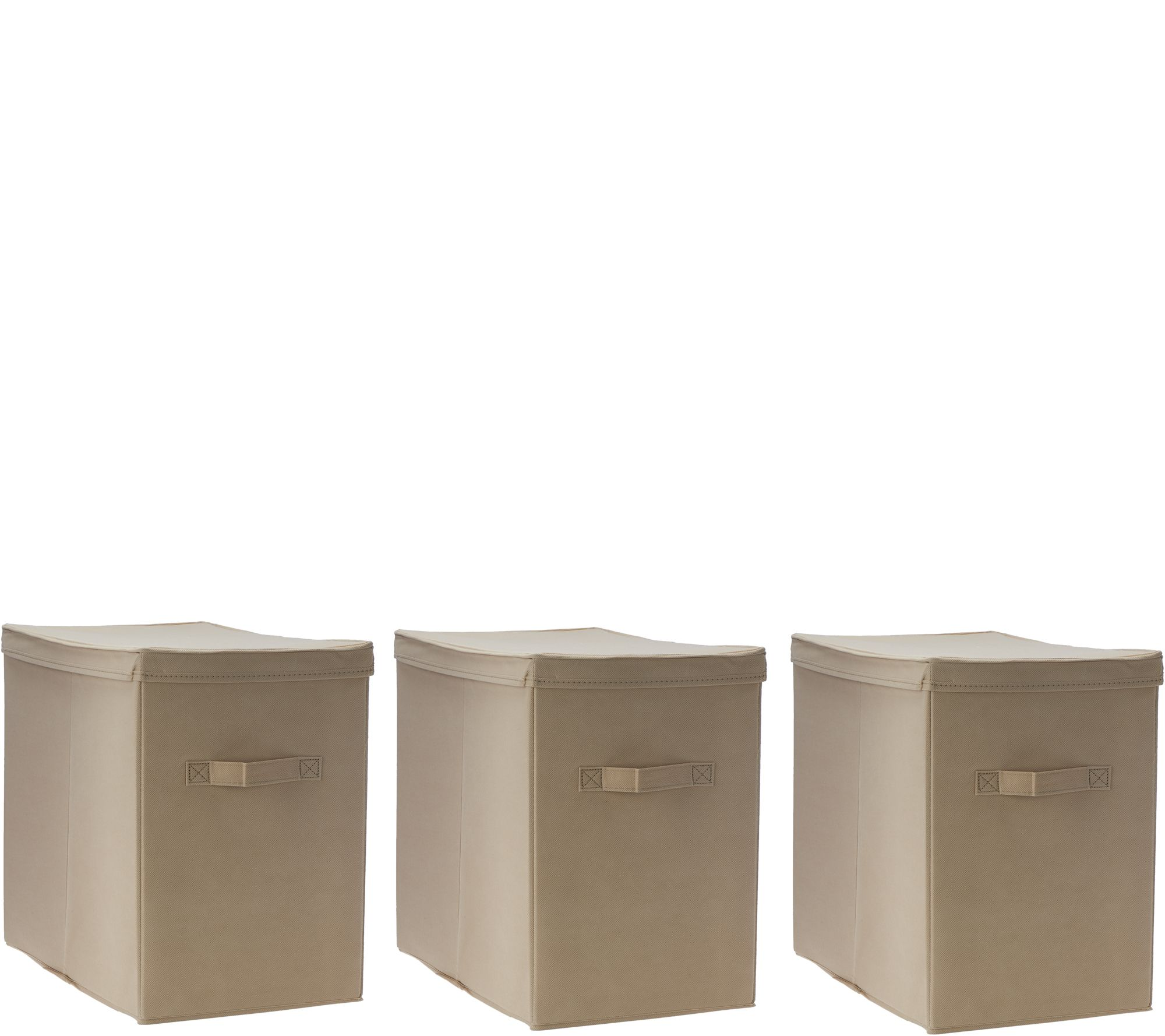 Pop It Set Of 3 Collapsible Storage Bins With Lids   Page 1 U2014 QVC.com