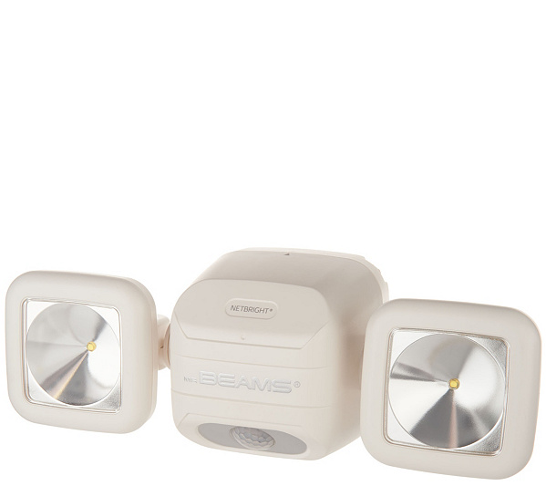 Mr beams netbright dual head motion sensor security light qvc aloadofball Images